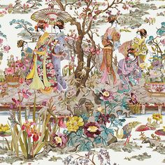 Osborne & Little Japanese Garden Wallpaper, W7024-03