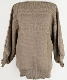 Boatneck Knit Sweater Size M