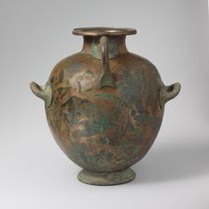 Bronze hydria: kalpis (water jar). Period: Archaic or Early Classical. Date: early 5th century B.C. Culture: Greek, Attic.