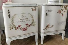 No Problem! Decoupage Furniture, Hand Painted Furniture, Recycled Furniture, Refurbished Furniture, Art Furniture, Furniture Makeover, Vintage Furniture, Decoupage Vintage, Shabby Vintage