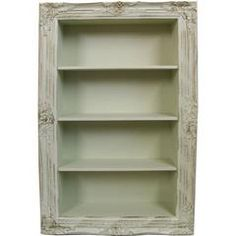 POLYRESIN WALL SHELF IN ANTIQUE WHITE COLOR 64X19X100