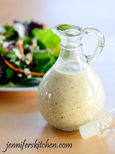 Homemade Creamy Italian Salad Dressing... so delish and low fat too!!!