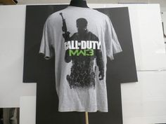 Call Of Duty MW3 Modern Warfare Shirt Full Front Print Size XL Military Game #GraphicTee
