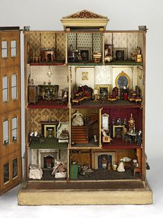 The Henriques House, England, 1750-1800. It is a model of a typical Kensington or Belgravia town house, found in long rows of elegant terraces.