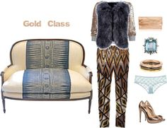 Happy Weekend GOLD CLASS, created by anakral on Polyvore
