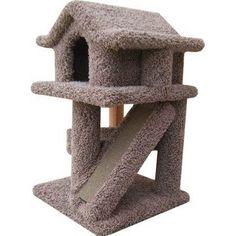 Amazon.com: Mini Pagoda Cat House Color: Brown: Pet Supplies