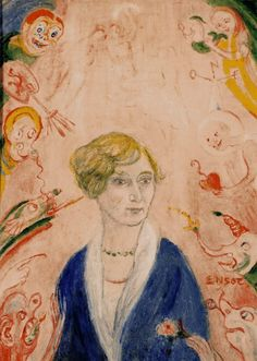 Portrait of Augusta Boogaerts, James Ensor  1939