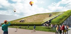 """Earth Screening Winning proposal for new Holland """"sustainable farming"""" pavilion at Expo Milano 2015 unveiled by international team including Recchi Egineering and Carlo Ratti Associati."""