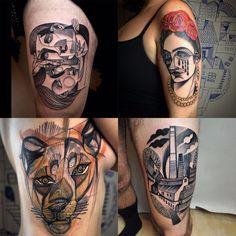 Desde Berlín se ha comenzado a difundir un nuevo estilo de tatuajes que cualquier amante del cubismo amará tener en su piel.