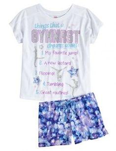 Gymnast Pajama Set | Girls Pajamas Pjs, Bras & Panties | Shop Justice