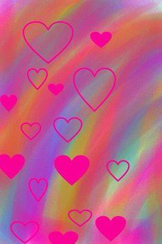 Flower Iphone Wallpaper, Pretty Phone Wallpaper, Neon Wallpaper, Homescreen Wallpaper, Heart Wallpaper, Cellphone Wallpaper, Colorful Wallpaper, Aesthetic Iphone Wallpaper, Aesthetic Wallpapers