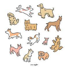 X Koke - Digitale Kunst, Illustration, : Animal Drawings, Cute Drawings, Drawing Sketches, Cute Dog Drawing, Dog Illustration, Character Illustration, Digital Illustration, Arte Alien, Illustrator