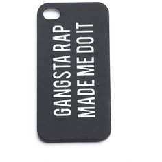 Gangsta Rap Made Me Do It iphone 4/4s Case (140 MXN) ❤ liked on Polyvore featuring accessories, tech accessories, phone cases, phones, cases, iphone case, iphone cover case and apple iphone cases