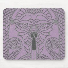 Customizable Abstract Dragon Mousepad lavender blk Dragon Face, Dragon Head, Good Luck Chinese, Dragon's Teeth, Year Of The Dragon, Chinese Symbols, Gamer Gifts, Custom Mouse Pads, Corner Designs