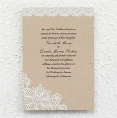 Lacy Blooms #Wedding #Invitation