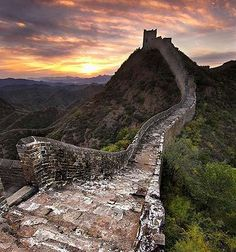 Great Wall, China: one of the most beautiful places I've been.