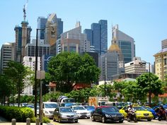 Business district, Singapore by Sara Spencer
