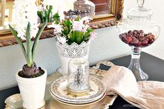 winter garden buffet at the picket fence
