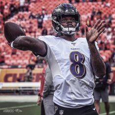 Back in enemy territory Nfl Football Teams, Football Helmets, Lamar Jackson, Baltimore Ravens, American Football, Basketball, Action, Fan, Sports