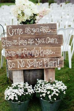 Lovely sign to put up for your ceremony. If you don't want to have a seating plan, let your guests choose where to sit! www.superevent.co.uk