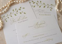 Fall Wedding - DIY - Save the Date, Wedding Invitation and RSVP Card