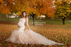 breathtaking maternity photos in Rochester NY with maternity gown in champagne by sew trendy accessories  Celine gown  Maternity Photographer