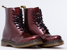 Dr. Martens Pascal in Cherry Red Spectra Patent at Solestruck.com
