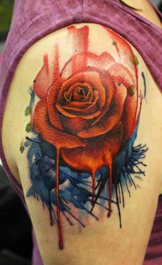 Rose tattoo on the arm. #tattoo #tattoos #Ink