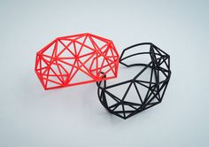 3D Printed Bracelet Cuff // Architectural Jewelry by GraceAndRobot