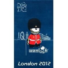 Price: $28.78 - London 2012 Olympic Wenlock Mascot Towel - TO ORDER, CLICK ON PHOTO