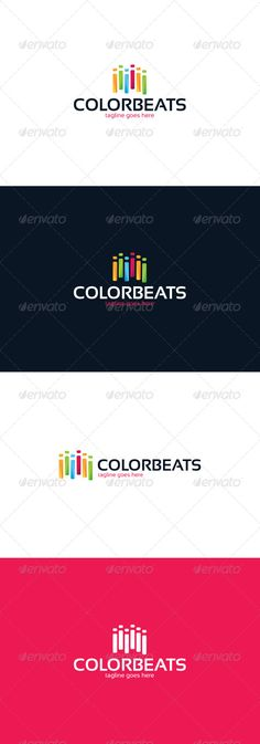 Color Beats Logo by shaoleen • Fully Editable Logo • CMYK • AI, EPS, PSD, PNG files • Easy to Change Color and Text