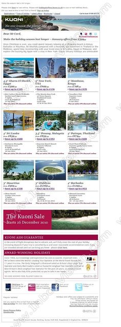 Company:    Kuoni Travel Ltd.    Subject:    Make the holiday season last longer – January offers from GBP599pp             INBOXVISION is a global database and email gallery of 1.5 million B2C and B2B promotional emails and newsletter templates, providing email design ideas and email marketing intelligence www.inboxvision.com/blog  #EmailMarketing #DigitalMarketing #EmailDesign #EmailTemplate #InboxVision  #SocialMedia #EmailNewsletters