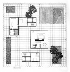 images about Philip Johnson on Pinterest   Philip johnson    Philip Johnson  Davis House  Plan  Wayzata  Minnesota