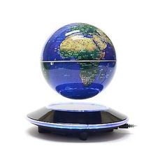 ﹩88.35. Senders 6Inch Floating Globe with LED Lights Magnetic Levitation Floating charm    Color - Blue,6Inch, UPC - NA