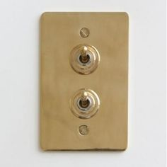 画像1: 真鍮プレートダブルスイッチ