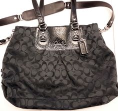Can be carried as handbag or with shoulder strap. Large Black, Designer Handbags, Coach Bags, Shoulder Strap, Michael Kors, Fashion, Couture Bags, Moda, Designer Purses