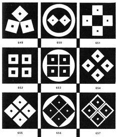 Circles and squares.