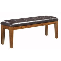 Ralene Large Upholstered Dining Room Bench Wood/Medium Brown - Signature Design by Ashley : Target