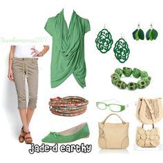 Jade-d and Earthy, #green #comfortable #irish created by twinkiemama2007.polyvore.com