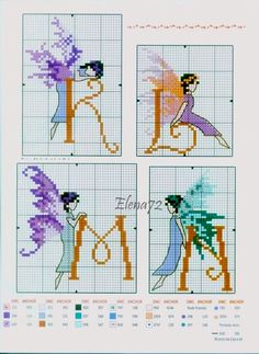 Butterfly Fairy Initials 4
