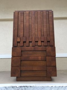 Brutalist armoire Gentleman Chest by Lane by CyclicTrends on Etsy