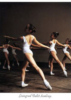 LENINGRAD BALLET ACADEMY: 1ST YEAR PUPILS IN THE CLASS OF OLGA BALTACHEEVA. PHOTO BY SETH EASTMAN MOEBS, 1989