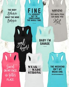 Fall Fitness Sale  All new designs and in limited qty.