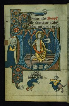 """Book+of+Hours,+Initial+""""D""""+with+the+Resurrection,+Walters+Manuscript+W.88,+fol.+100v"""
