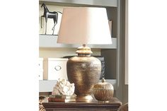 Antique Brass Finish Sarice Table Lamp View 1