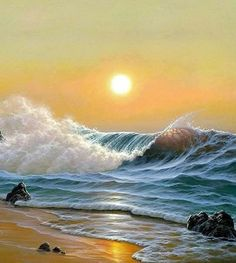 -~~- Ocean Pictures, Sunset Pictures, Ocean Art, Ocean Waves, Ocean Sunset, Ocean Photography, Landscape Photography, Photography Tips, Portrait Photography