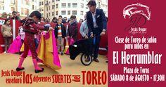 capotes muletas y rejones: Jesús Duque enseñará las suertes del toreo a los niños
