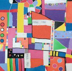 Vrij werk 6, schilderij van Anita Dielen | Abstract | Modern | Kunst