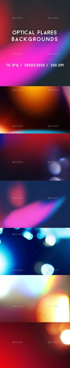 70 Optical Flares Backgrounds by kauster- 70 Optical Flares Backgrounds This pack includes 70 Optical Flares Backgrounds. Suitable for printing, web design, banners, poster