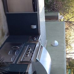Outdoor kitchen at our home. Grilling in any weather!
